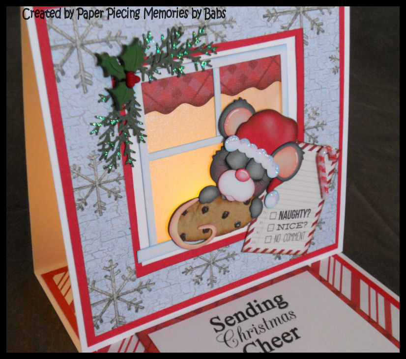 PAPER PIECING MEMORIES BY BABS: Light Up Christmas Card