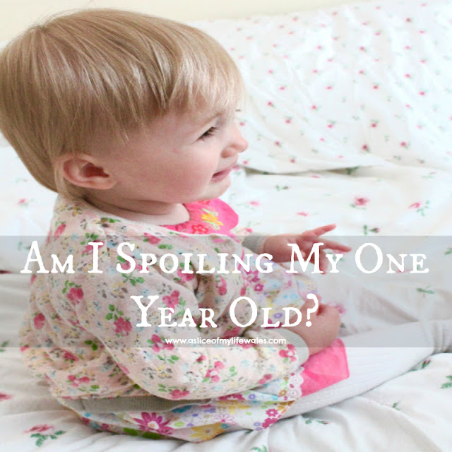 am I spoiling my one year old - blog header photo baby girl crying
