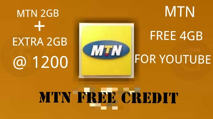 LATEST OFFER GET MTN 4GIG FOR #1200 WITH FREE AIRTIME CREDIT and 4GB FREE FOR YOUTUBE