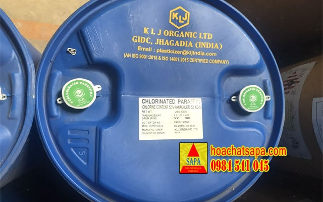 Dầu hóa dẻo Chlorinated Parafin S52, hàng Ấn Độ