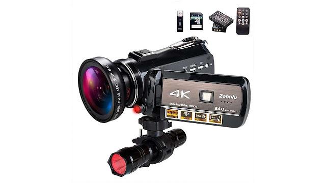 ZOHULU 4K Wifi Full Spectrum Camcorder