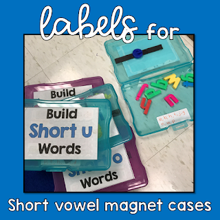 Labels for Short Vowel Magnet Cases