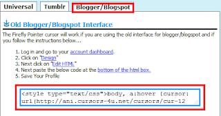 Cara Mengganti Tampilan Cursor pada Blogger menjadi Animasi