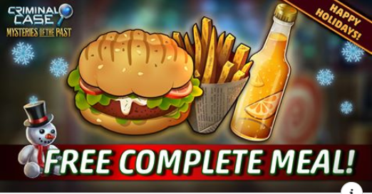 Criminal Case Mysteries Of The Past 🎅 Free Complete Meal