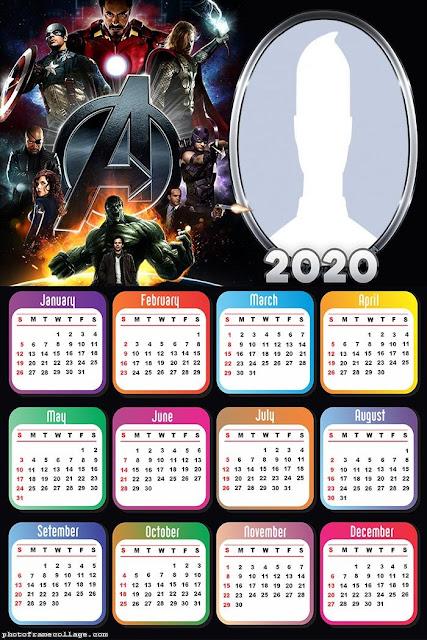 Avengers: Free Printable 2020 Calendar