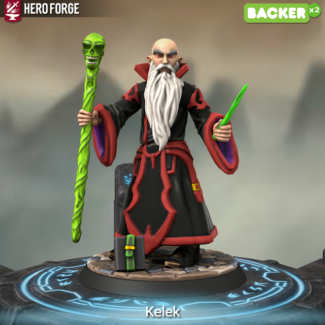 Kelek the Cruel from HeroForge