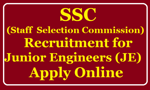 Staff Selection Commission (SSC ) Junior Engineers (JE) Recruitment apply online at ssc.nic.in /2019/08/SSC-Junior-Engineers-JE-Recruitment-apply-online-at-ssc.nic.in.html