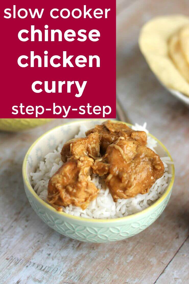 Slow cooker chinese chicken curry step by step