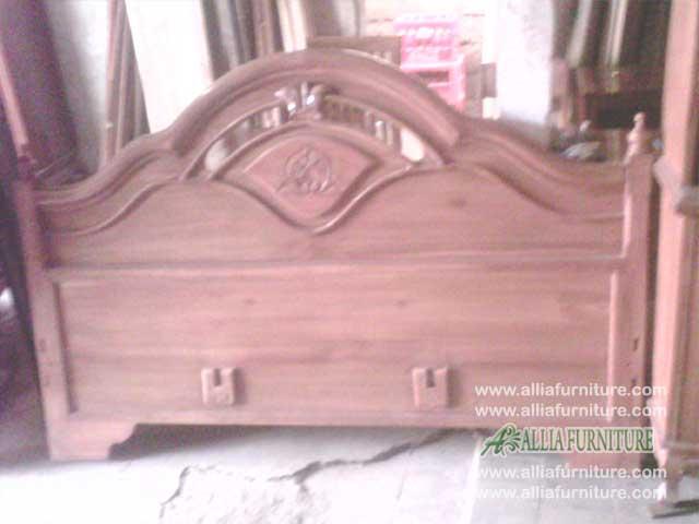 tempat tidur kayu jati soluna citra