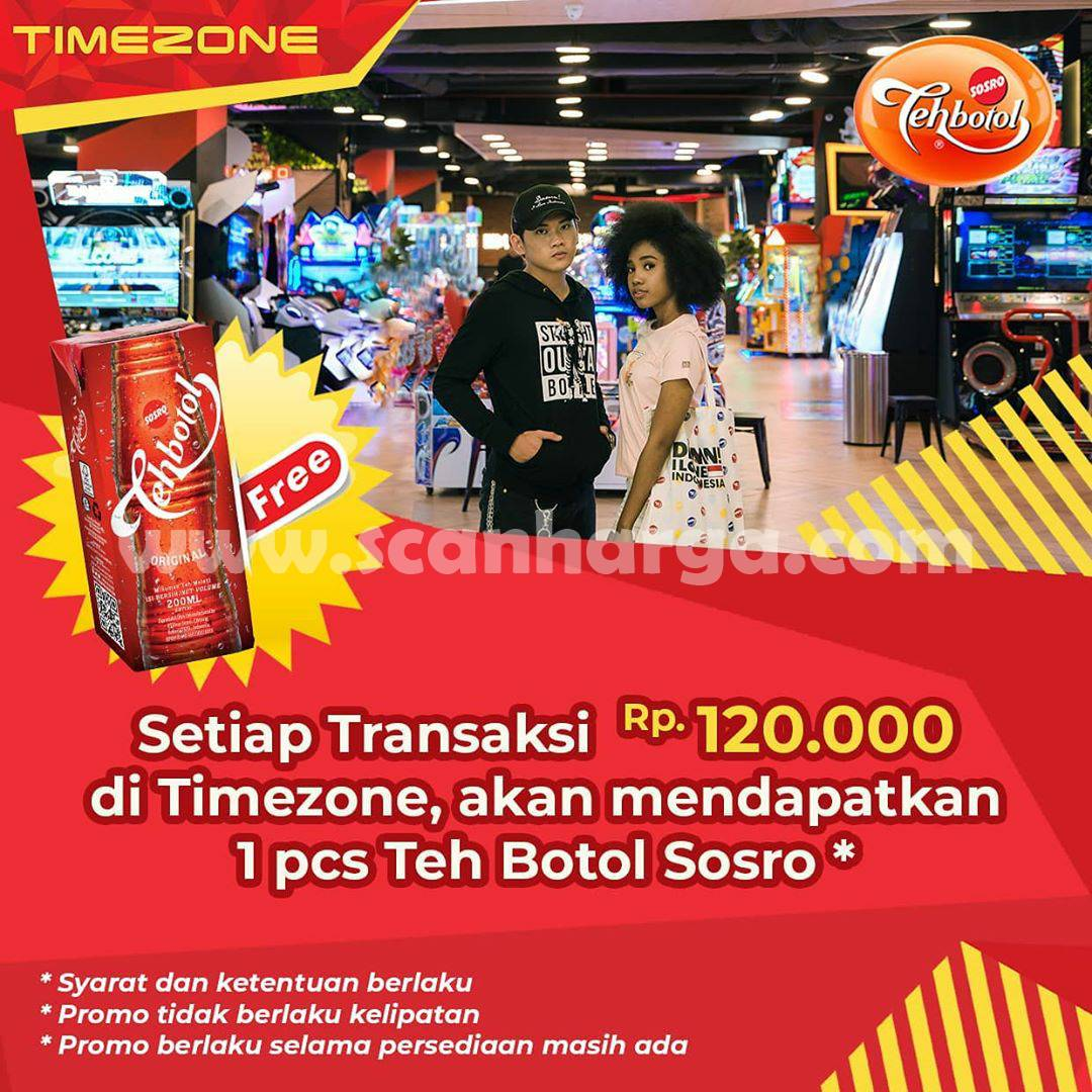 TIMEZONE Promo Gratis 1 pcs Teh Botol Sosro - Setiap Transaksi Rp 120.000