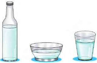 mengikuti wadah sifat air