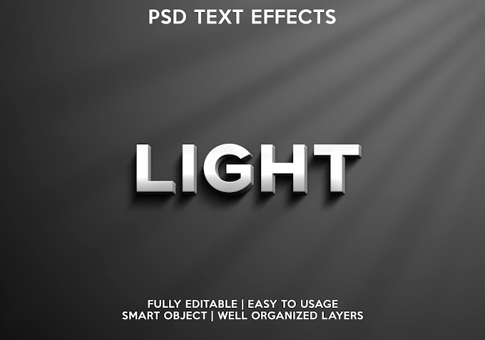 Light Text Effect PSD