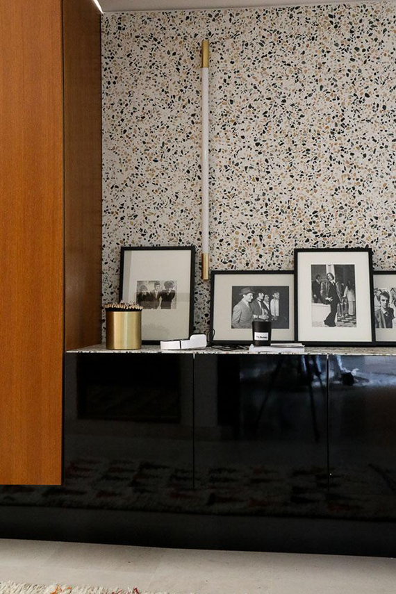 Terrazzo wall in The Bureau