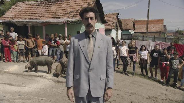 Sacha Baron Cohen como Borat. Imagen de Amazon Prime Video.