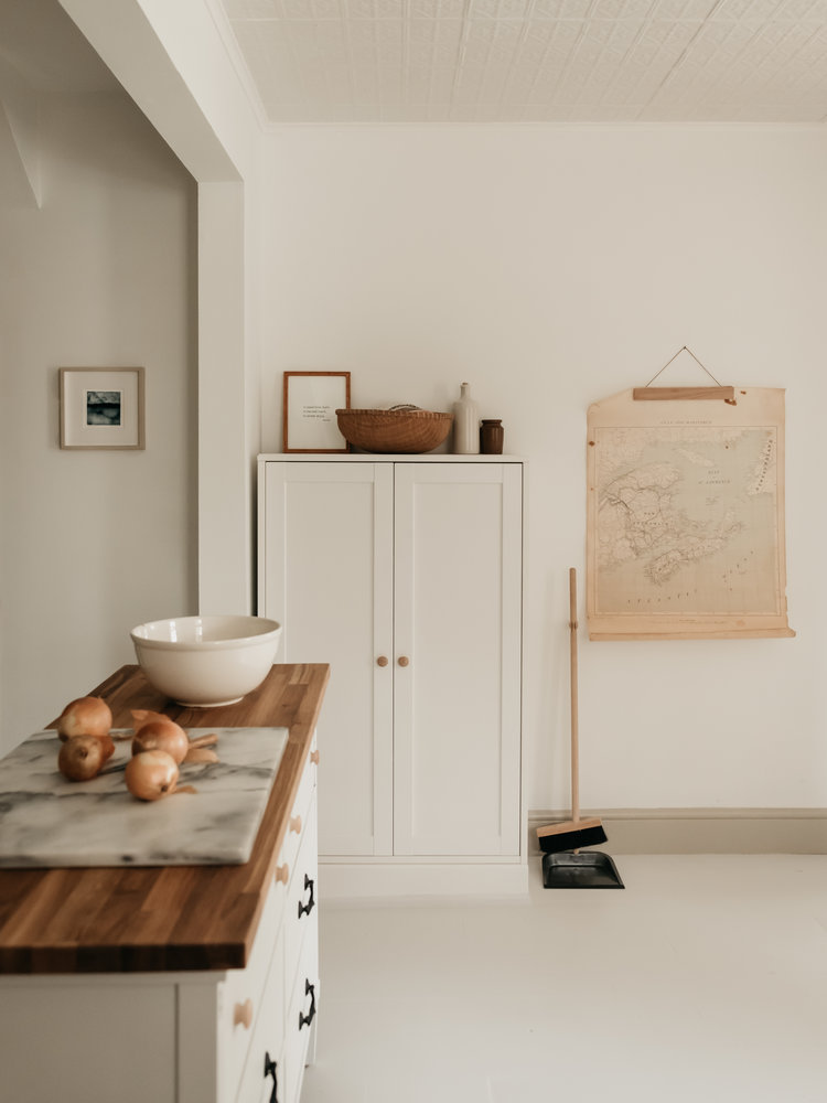 A calm cottage kitchen in Canada by Naomi Hill of Absent Hour