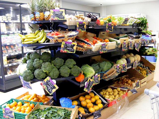 Fruit and vegetable selection, Village corner shop, Indre et Loire, France. Photo by Loire Valley Time Travel.