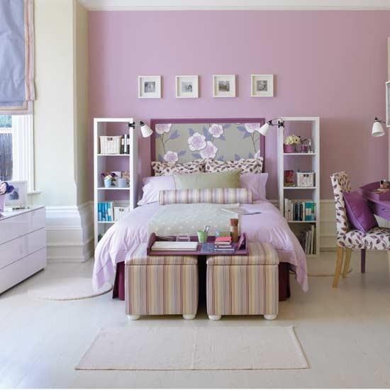 Lilac White Black Girls Room: Quartos De Casal Em Tons De Roxo E Violeta