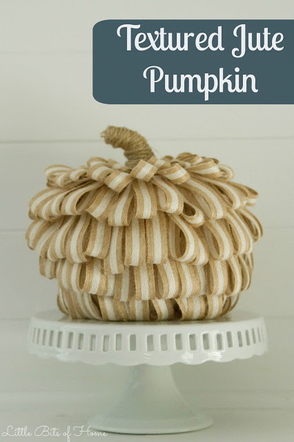 Cute jute ribbon pumpkin