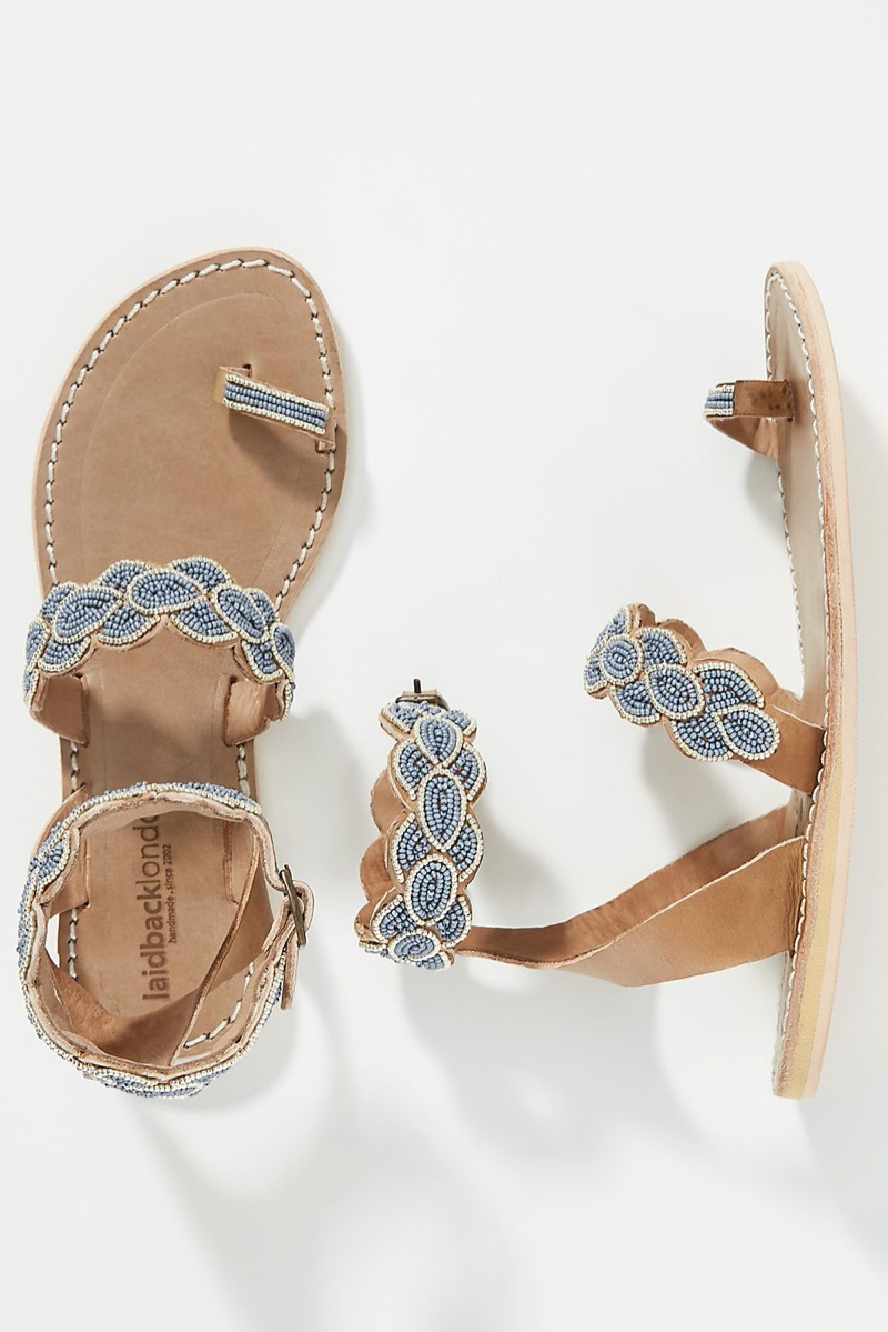 Laidback London Rumi Sandals in Blue