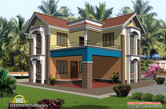 2080 square feet Kerala home design - April 2012