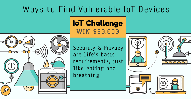 Challenge — WIN $50,000 for Discovering Non-traditional Ways to Find Vulnerable IoT Devices