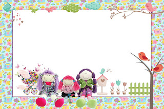 Cloth Dolls Free Printable Invitations, Labels or Cards.