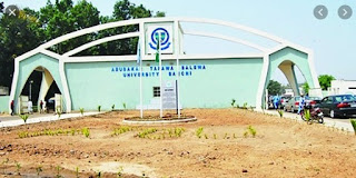 Courses offered in ABUBAKAR TAFAWA BALEWA UNIVERSITY, ATBU, www.atbu.edu.ng