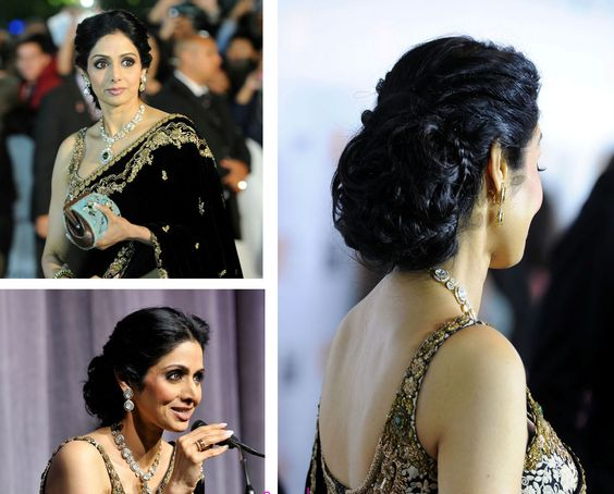 7 Beautiful Hairstyles For Silk Saree