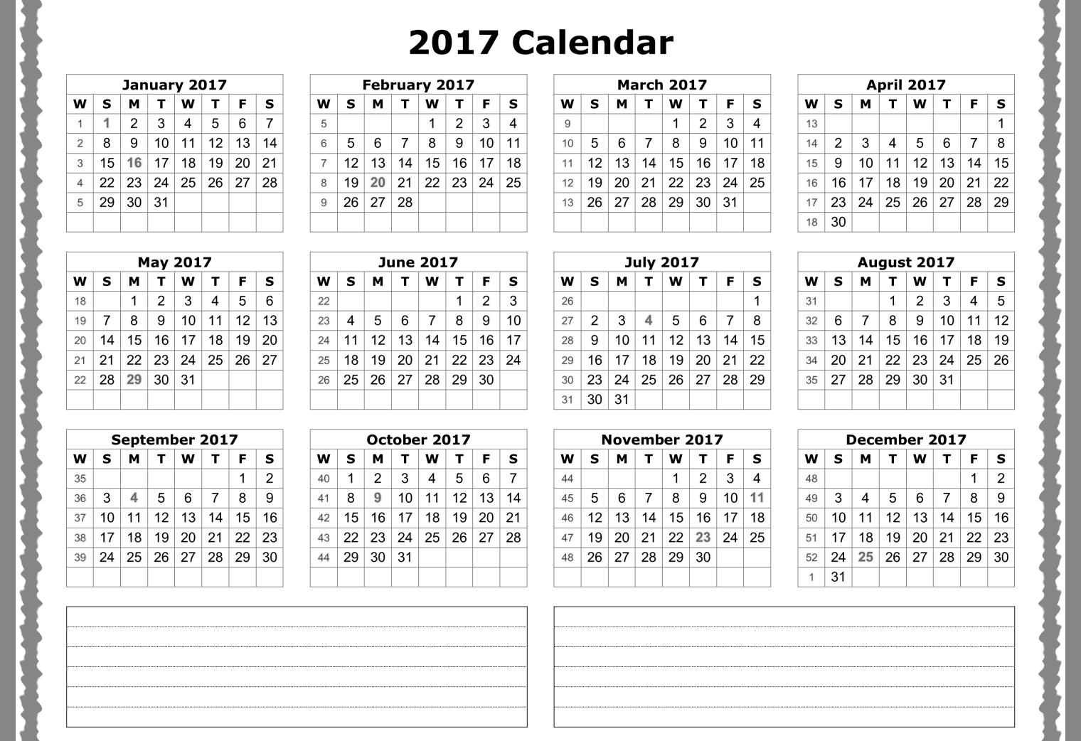 downloadable calendar 2017