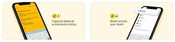 ملاحظة أخذ تطبيقات Ios Google Keep