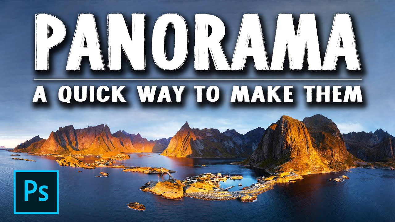 How to make PANORAMA photos with Lightroom and Photoshop