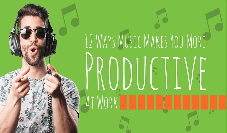 12 Ways Music Makes You More Productive at Work #infographic