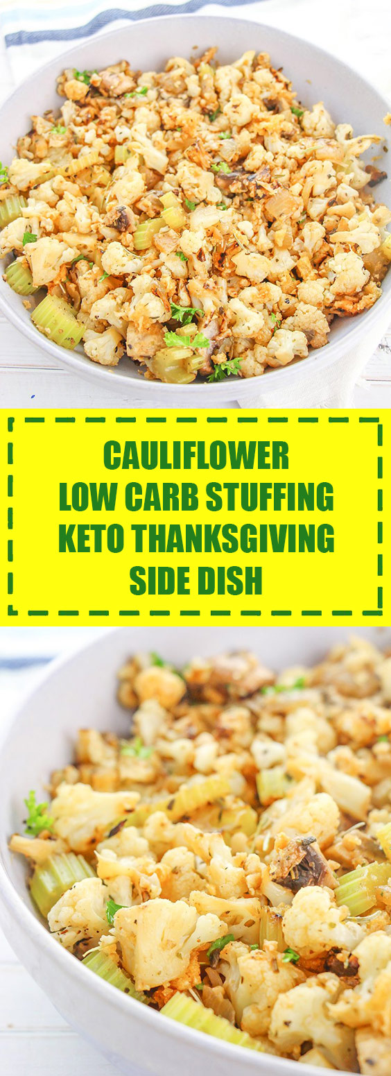 Cauliflower Low Carb Stuffing