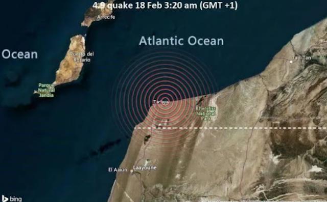 زلزال بقوة 4.9 يضرب سواحل هذه المدينة و يشعر به سكان أكادير