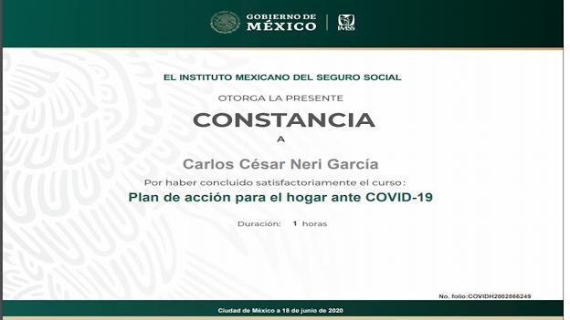 Certificaciones COVID 19 IMSS