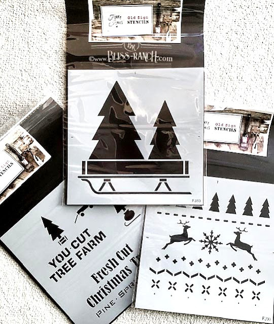 Old Sign Stencils Christmas Sweater