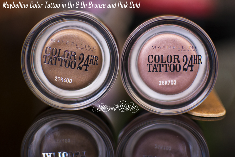 maybelline color tattoo on and on bronze pink gold
