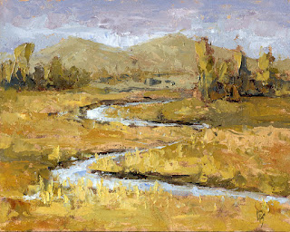 painting oil landscape autumn fall marsh ogden valley