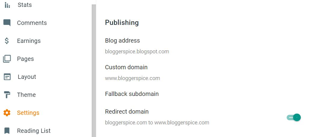 How to redirect my domain from non-www to www on Blogger?