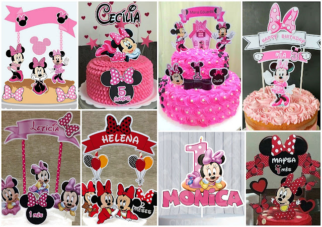 Minnie Free Printable Cake Toppers.