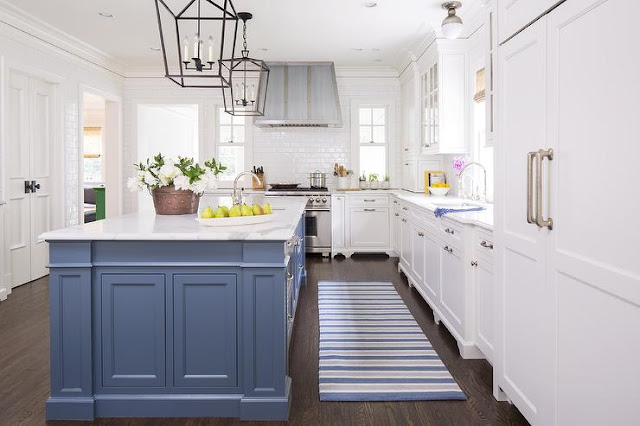 White Kitchen Cabinets Blue Island
