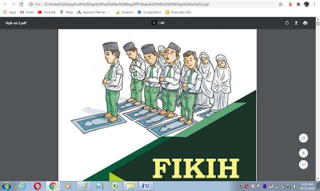 Buku fikih kelas 2 sd/mi sesuai kma 183 tahun 2019
