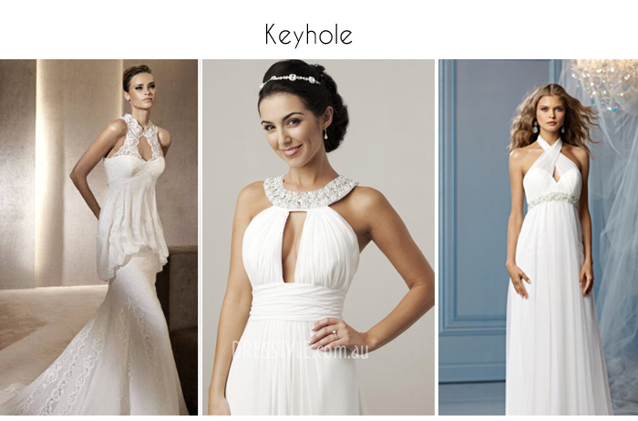 Keyhole Halterneck Wedding gowns