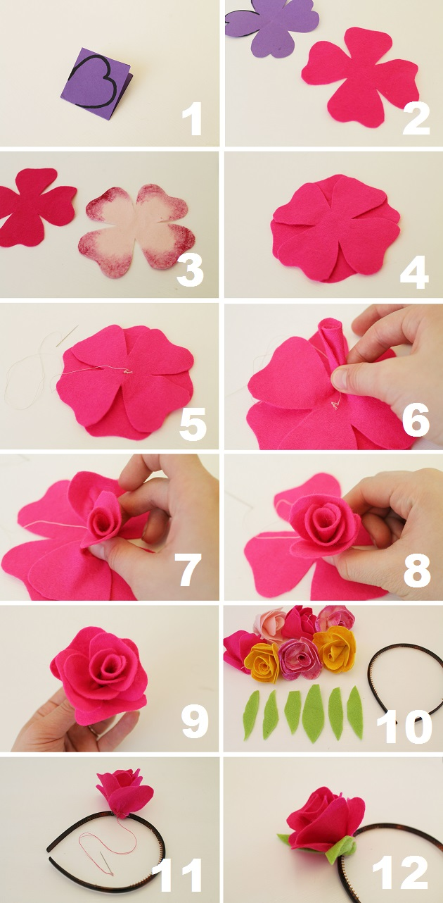 How To Make An Origami Rose With Construction Paper