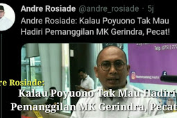 Andre Rosiade : Kalau Poyuono Tak Hadir Pecat
