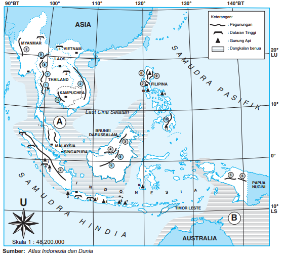 Peta Bentang Alam di Kawasan Asia Tenggara
