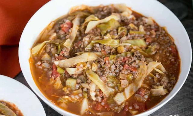 Low Carb Unstuffed Cabbage Soup #healthy #keto