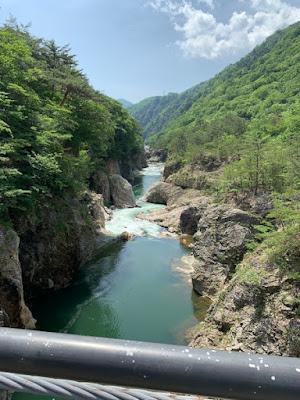 むささび橋から見る龍王峡(下流側)