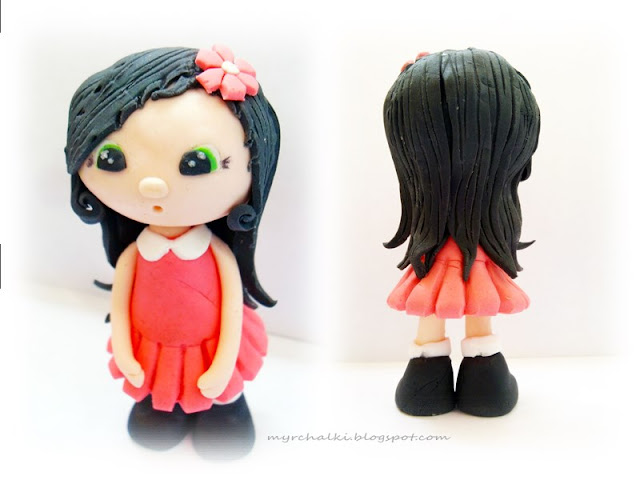 куколка из мастики