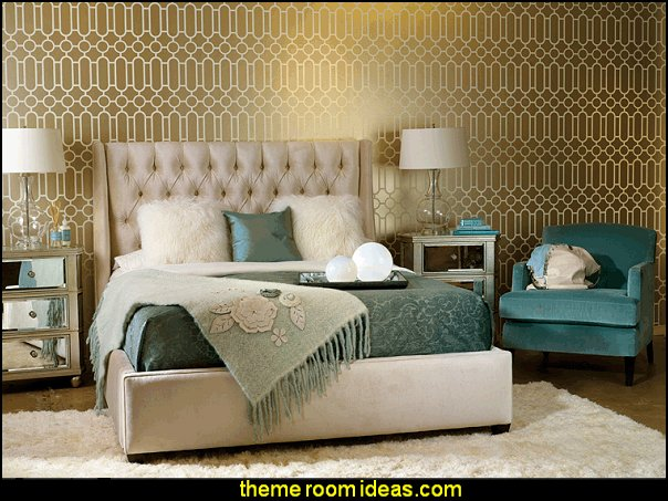 old hollywood glam luxe bedroom  decorating hollywood glam bedroom decor